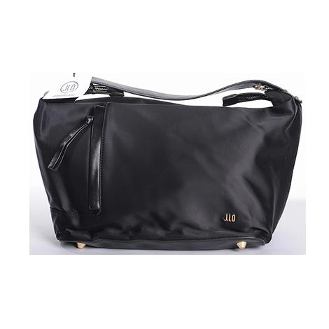 J.LO JENNIFER LOPEZ – saténová čierna kabelka- obrázok 580 f8dfa409306