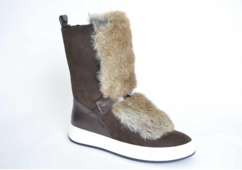ef61224d1242f Baldinini Montone Marrone - dámske zajačie čižmy obuv - TOP DI MILANO